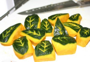 pumpkin leaves