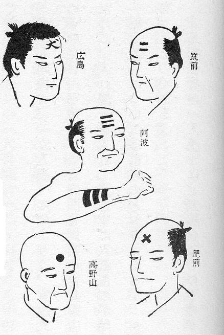 History of japanese tattoo iromegane for Cross tattoo on forehead meaning