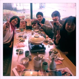 Our first meal in Tokyo with Okimori Family a